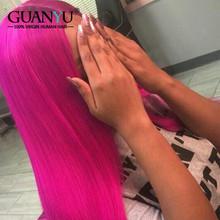 Серый парик из натуральных волос на кружеве 13X4 бразильские волосы Remy Ombre 3 тона блонд розовый зеленый синий красный оранжевый фиолетовый цве...(Китай)