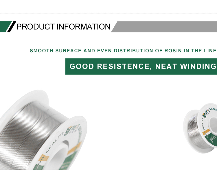 BEST 40g Lead-free Solder Wire 0.4 0.8mm Unleaded Lead Free Rosin Core for Electrical Solder RoHs SGS
