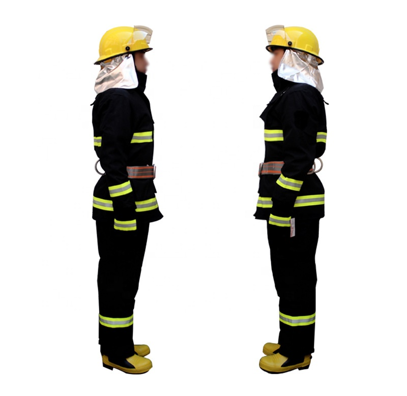 4 Layers Aramid Navy Blue Firefighter Protective Fire Safety Suit