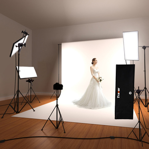 Travor new design professional shooting flexible fabric cloth lamp led soft panel light photographic video lights kit