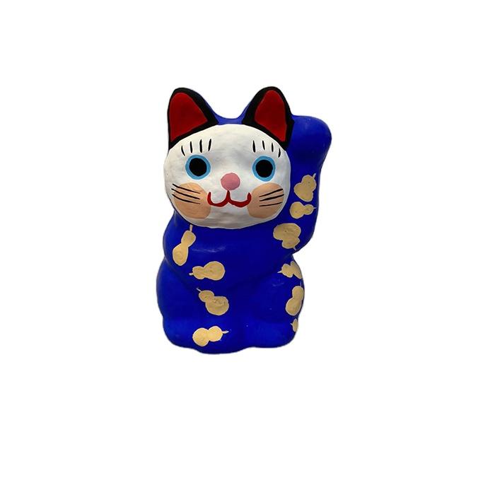 MANEKI NEKO gold cute custom lucky cat made by Japanese traditional craft paper