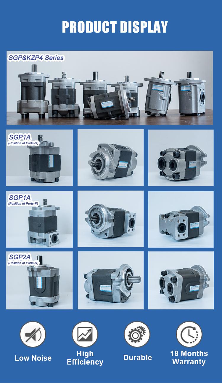 SGP1-32L 시마즈 SGP 유압 Gear Pump Rotary Oil Pump 대 한 지게차, 건설 기계, Transport 기계