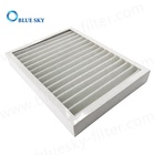 Customized 330x250x43mm White Paper Pleated Frame Cotton Filters Replacement for Air Purifiers Parts