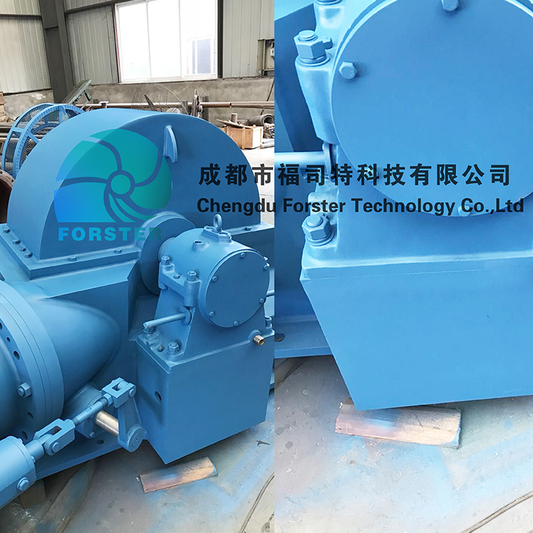 250kw Water Turgo Turbine Inclined Jet Turbine