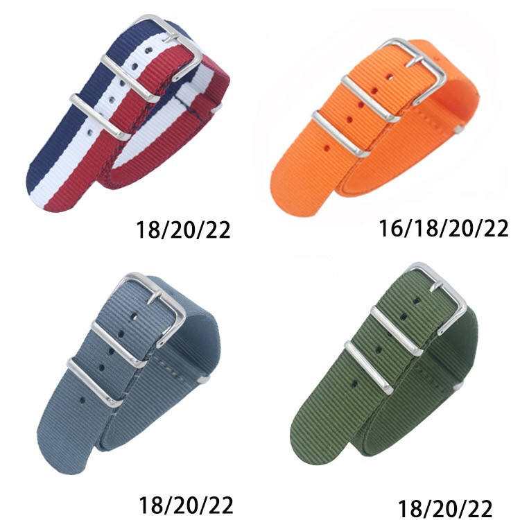 All have stocks nato watch strap custom nato strap 18mm 20mm 22mm nylon watch band
