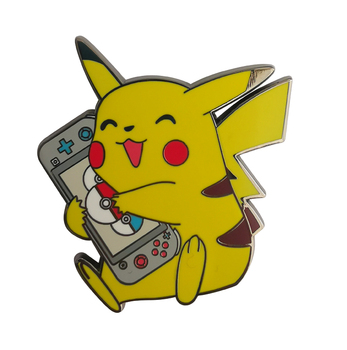 Custom Cute Anime Yellow Color Enamel Pin Nickel Plated Metal Badge