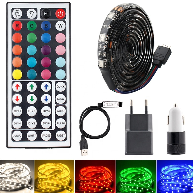 5050 2835 Flexible Ribbon fita led light strip RGB 5M 10M 15M RGB LED Strip Light