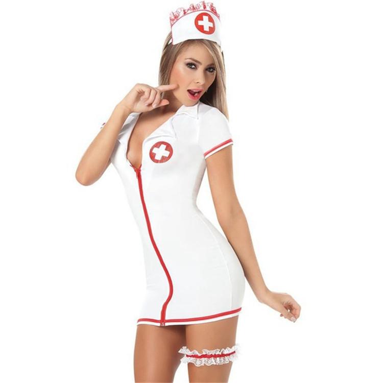 PoeticExist Nurse Uniform Sexy Costumes for Women