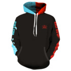 LOW MOQ 50 Pcs Manufacturer Design Pullover Custom 2 Tone Color Hoodie 100 Cotton