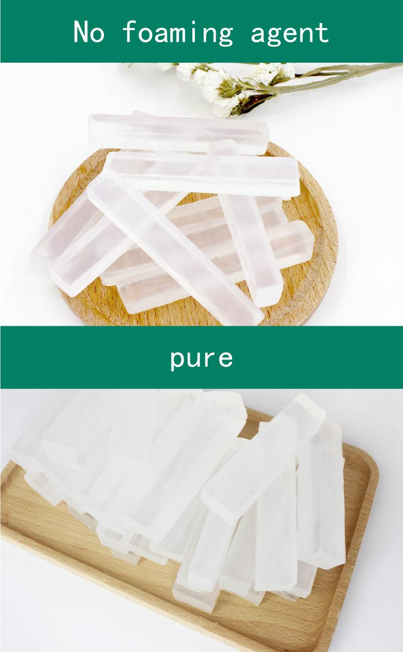 Base de savon organique transparente de qualité supérieure Pour le bricolage