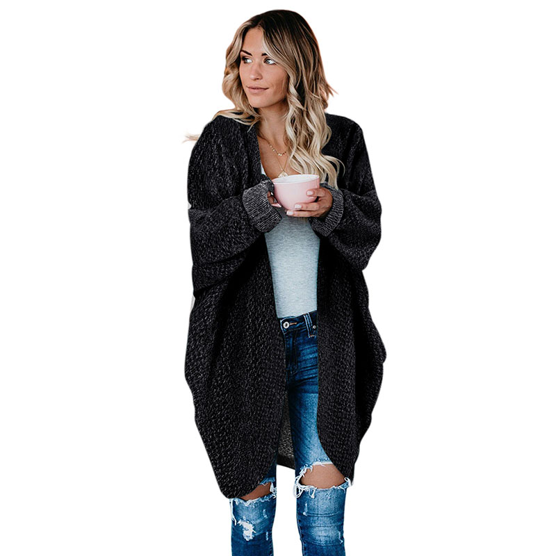 High Quality New Batwing Long Sleeve Women Winter Cardigan