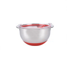 High Quality Stainless Steel Mixing Bowl Sets With Lids Non Slip Silicone Bottoms Salad Bowl
