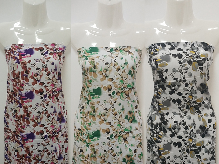 new design breathable viscose fabric floral dress rayon printed fabric