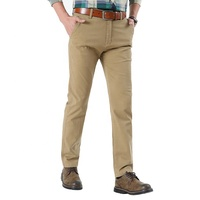 Khaki Stretch Casual Skinny men chino pants