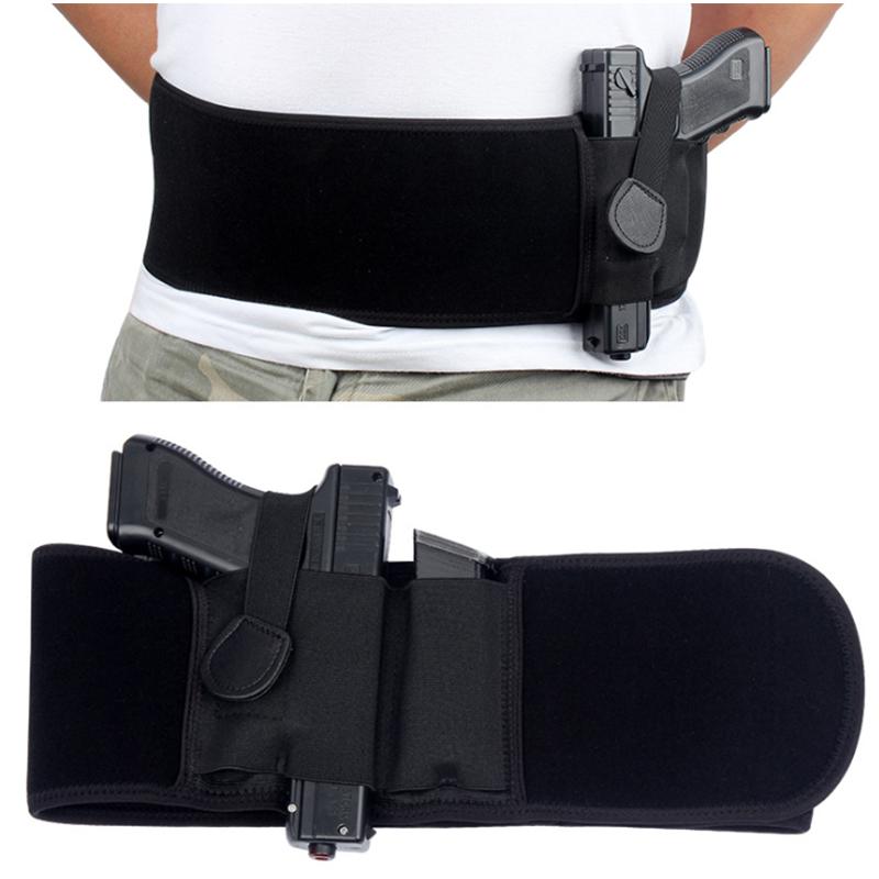 Manufacturer Custom Tactical Military Pistol Holster Concealed Carry Elastic Waistband Bag 109cm Men Adults Gun Holster
