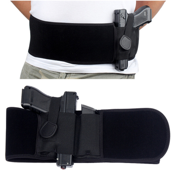 Manufacturer Custom Tactical Military Pistol Holster Concealed Carry Elastic Waistband Bag 109cm Men Adults Gun Holster