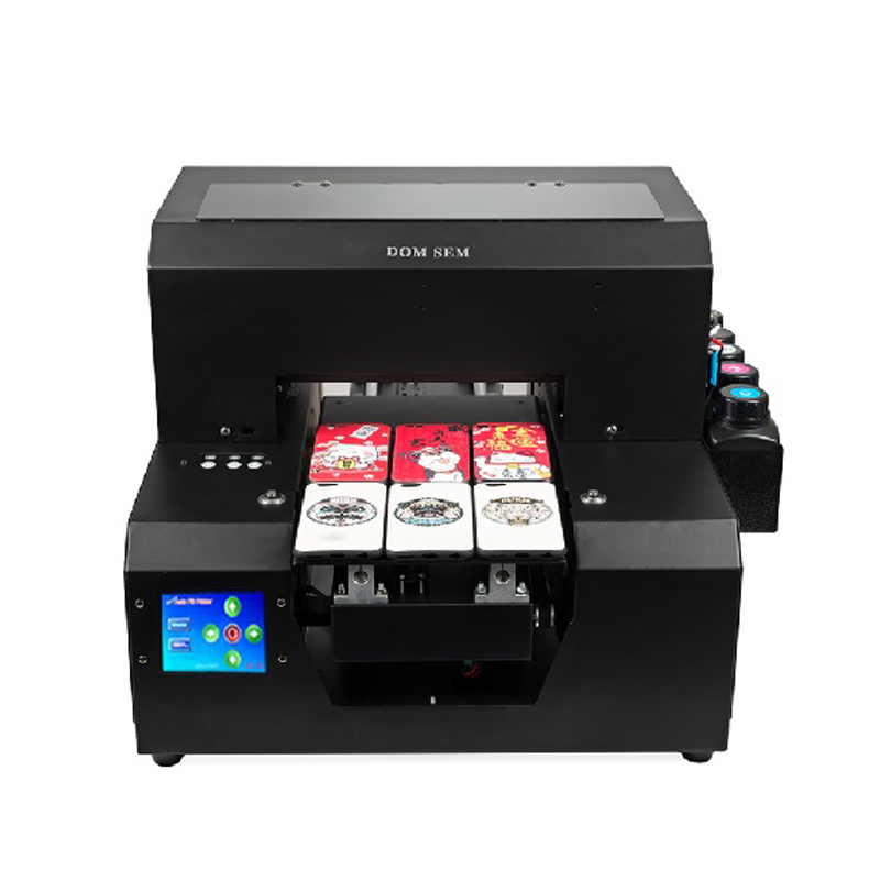 DOMSEM Factory Price A4 Size 6 Color Flatbed Uv Printer