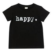 Летняя детская одежда, белая футболка для мальчиков, футболка для девочек, детские футболки с принтом букв из мультфильма, Детские футболки,...(Китай)
