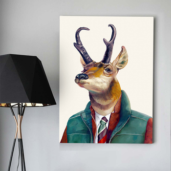 Cartoon No frame deer head pictures fine art painting prints on canvas