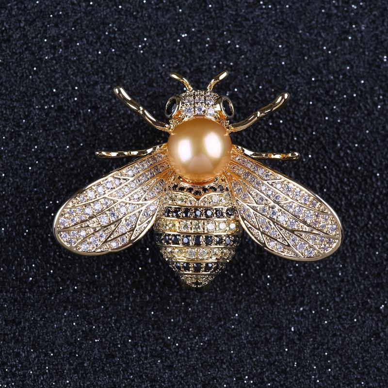 High-grade microscope zircon honey bee brooch fashion jewelry