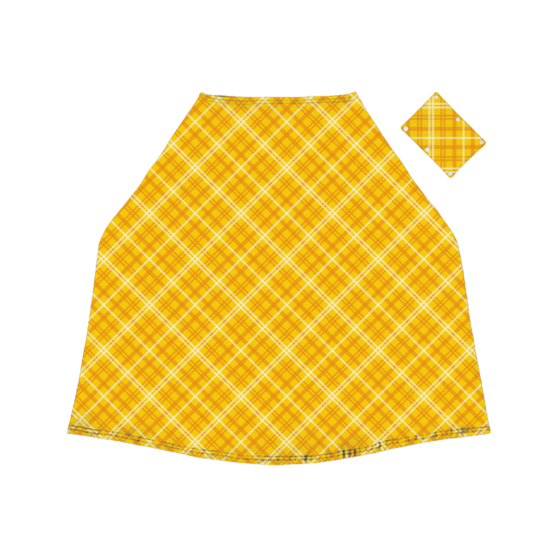Baby Car Seat Cover Stretchy Keep Out Sunshine And Wind Bright Yellow Grid Design Baby Car seat Cover Nursing