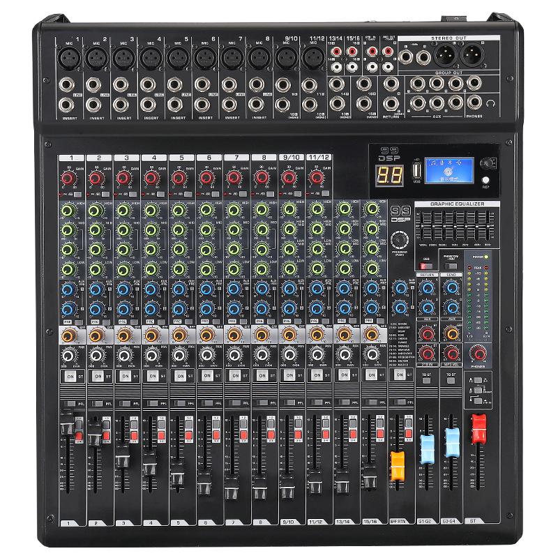 Прямая продажа с фабрики для 16ти-канального видеорегистратора музыки микшерный пульт силовой блендер миксер аудио микшерный пульт с Usb и 48В