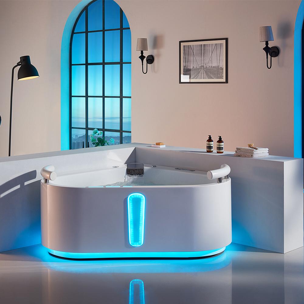 Nueva bañera hotel romántico baño de burbujas europeo estilo bañera de masaje