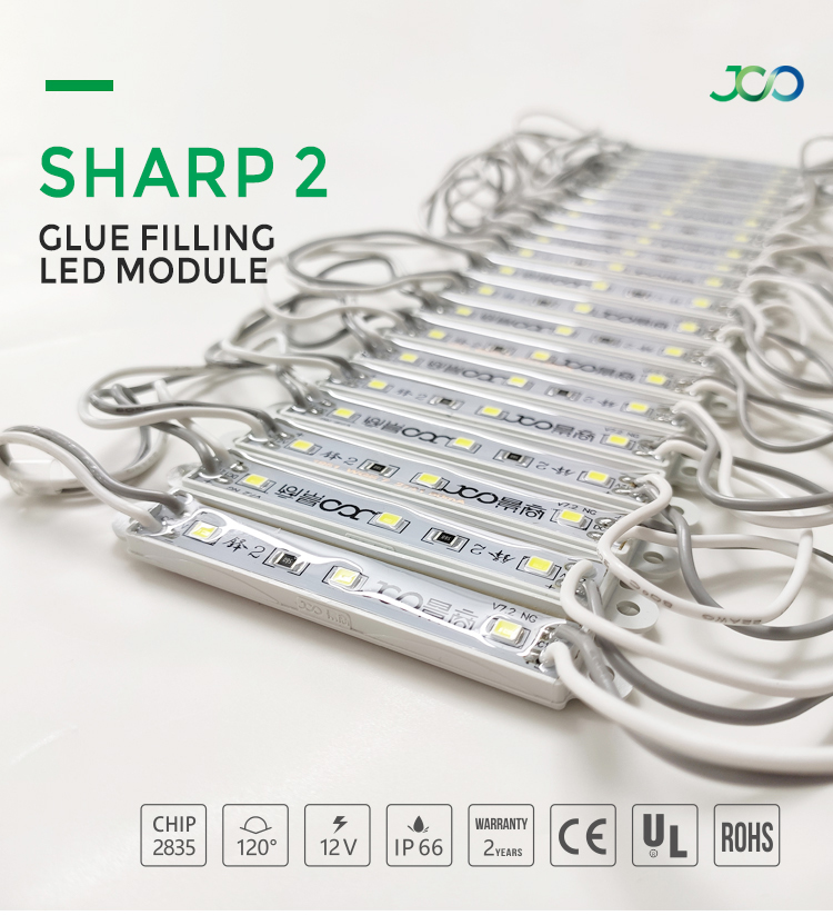 JS SMART LED Manufacturer Outlet Epoxy Resin Bright Led Module 3 Diodes DC 12 Volt IP66 Epoxy Modulo Led Modulo
