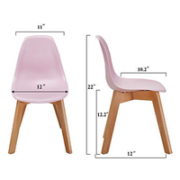 Modern Wooden dining room Furniture Metal Plastic Beech Wood Dining Chair With Wood Leg