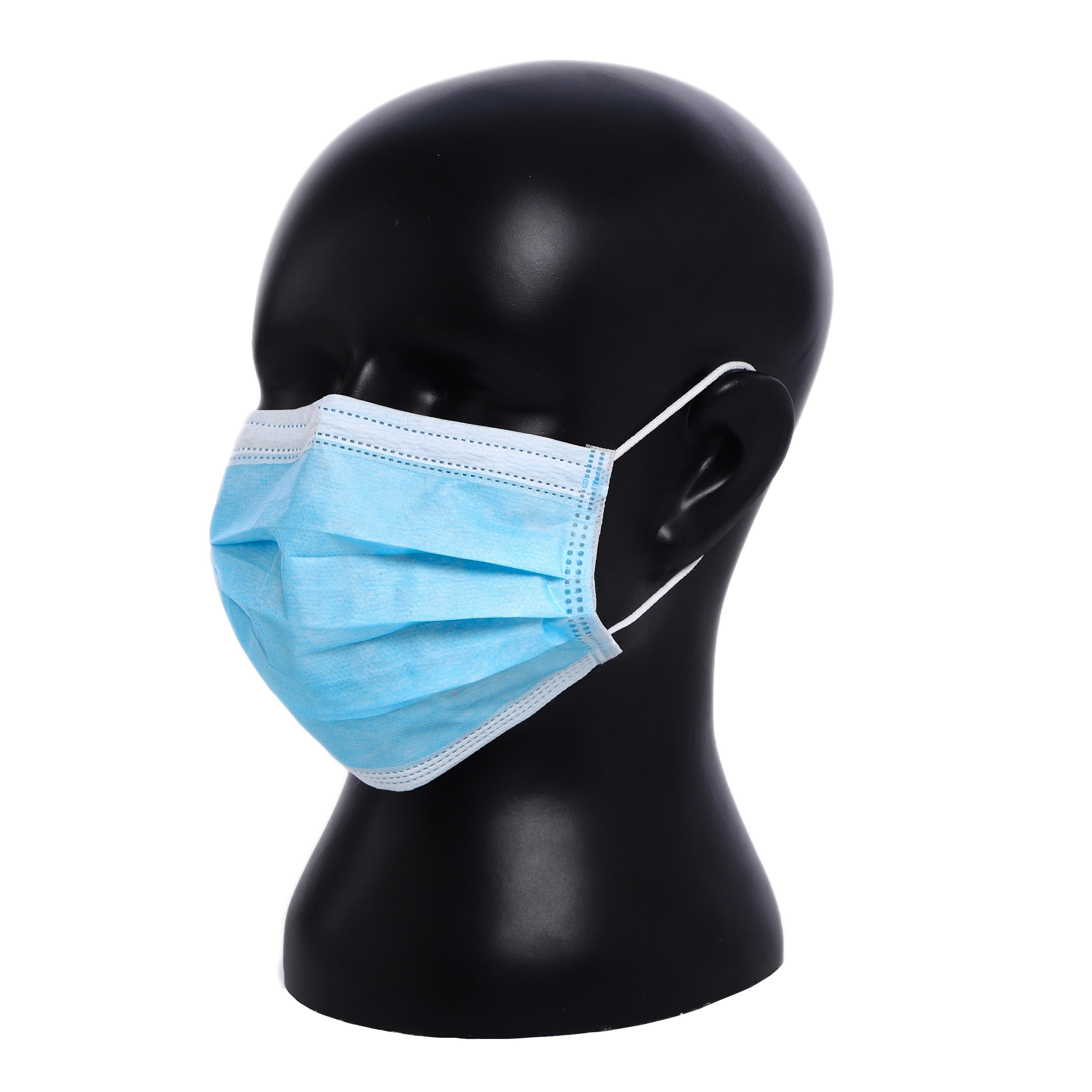 Disposable Medical Protective Non-Woven 3ply Facial Melt-Blown Earloop Face Mask