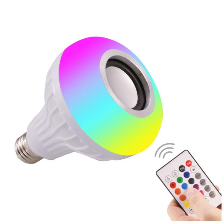 Spot RGB dimming and color changing led bulb speaker speaker smart LED music bluetooth bulb