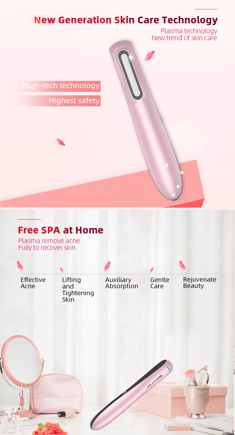 High Pressure Heating Acne Treatment Plasma Pen Acne Cleanser for Beauty Skin Care