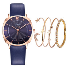 Лидер продаж женские простые часы Роскошные женские кожаные кварцевые спортивные наручные часы браслет набор Reloj Mujer для подарка часы(Китай)