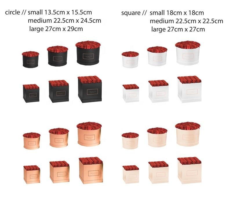 Boîte à fleurs carrée ronde en carton | Nouvelle mode, emballage de luxe avec Logo personnalisé, tiroir coulissant pour cadeau