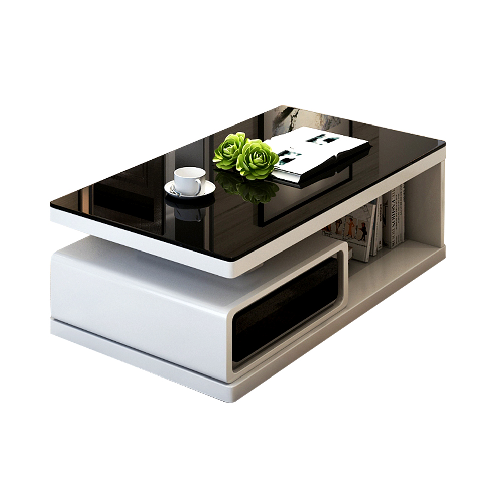 Modern Wooden Furniture Unit Gloss 2 Drawers Living Room TV Stand Sofa Popular Luxury Coffee <strong>Table</strong>