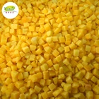 Shandong Different Sizes IQF Frozen 1010mm Diced Yellow Peach