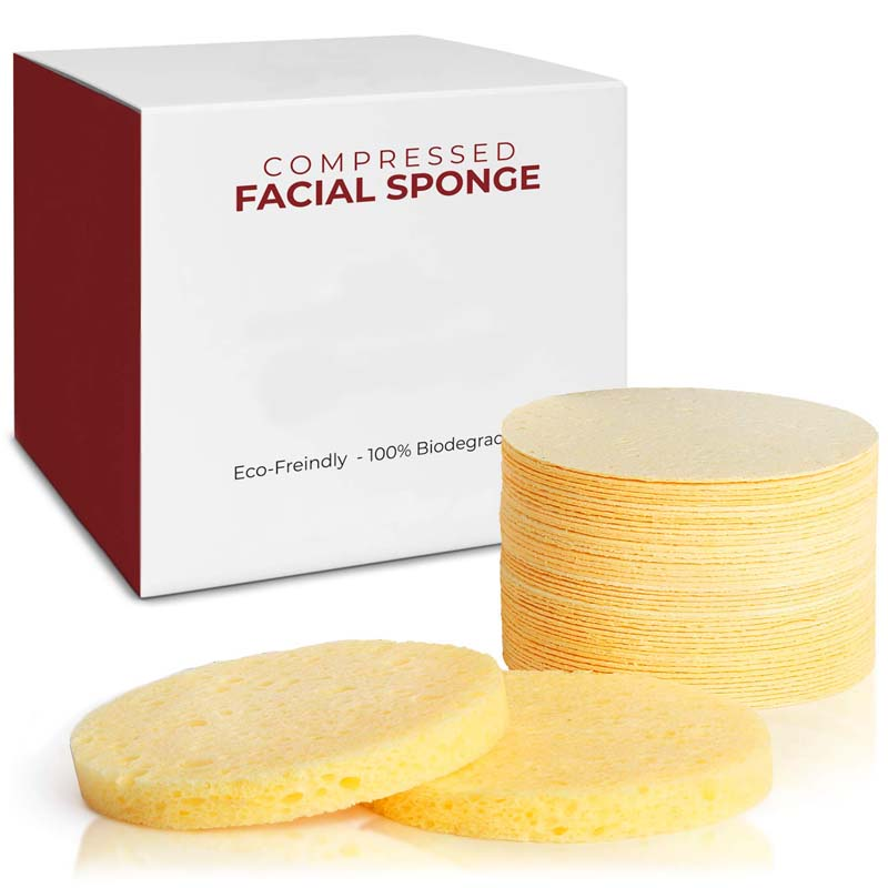 100% 天然高密度セルローススポンジ洗顔スポンジセルロースエクスフォリエイティ顔クリーニングセルローススポンジ