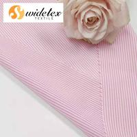 Wholesale High Quality Pink and White Stripe 40S 121GSM Tencel & Rayon Yarn Dyed Fabric Both Solid and Print for Lady Dress