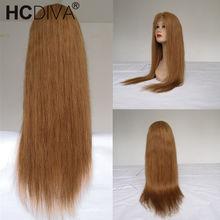 Прямые парики из натуральных волос на шнурках для черных женщин, предварительно сорванные с волосами младенца, полный парик из бразильских ...(Китай)