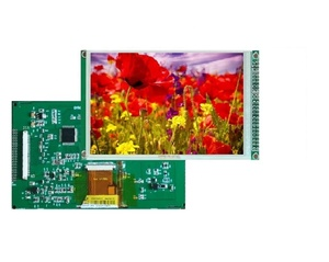 "7"" lcd display panel 800*480 universal control board MCU SPI 4WIRES interface for industrial machine"