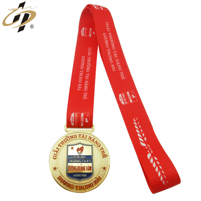 Promotional wholesale gold souvenir custom medals and trophies