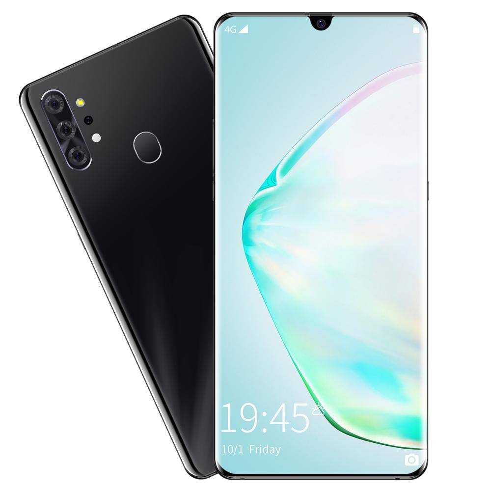Новый большой экран 4G Android смартфон 6,7 inch 8GB + 256GB изготовленный на заказ мобильные телефоны NOTe 20 + смартфон
