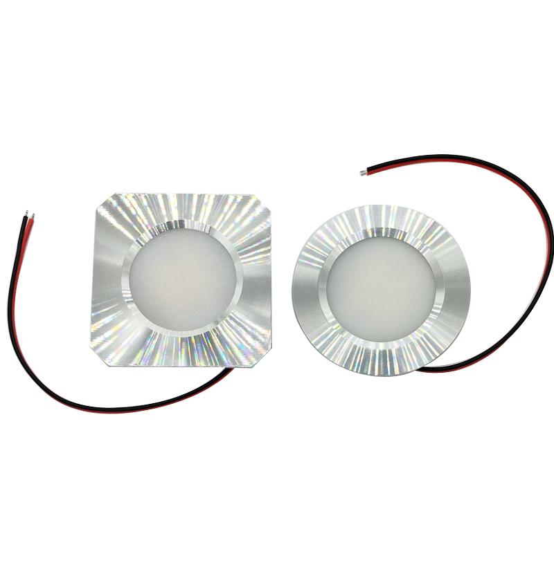 Puck Light Dimmable 10-30V 12V 24V LED Recessed LED Cabin Light Square or Round Down Lamp Ceiling Dome Light