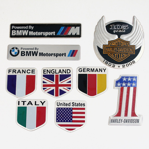 Factory wholesale Fashion 3D Aluminum alloy national flag decorate custom car decal sticker