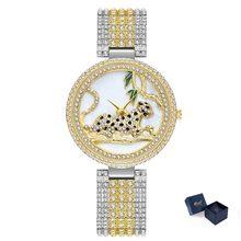 MISSFOX роскошные женские часы со стразами Стразы стальной браслет 30 м Водонепроницаемые 18 К золотые красивые кварцевые наручные часы для женщ...(Китай)