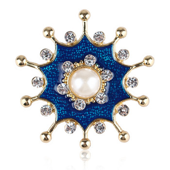 Retro vintage jewelry enamel glaze flower wild temperament clothing accessories pearl brooch
