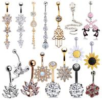 Fashion Eagle Zircon Clear Body Piercing Navel Rings Dangle Belly Button Rings