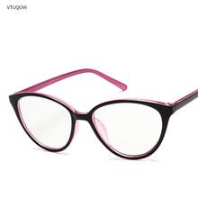 2020 Модные женские кошачьи глаза очки в оправе при близорукости оптические прозрачные очки оправа ретро очки оправа синий светильник очки д...(Китай)