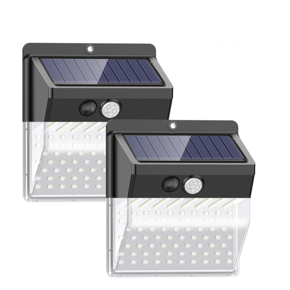 2 Pack 172 LEDs Solar Lights Outdoor Wireless Waterproof Security Solar Motion Sensor Wall Lights