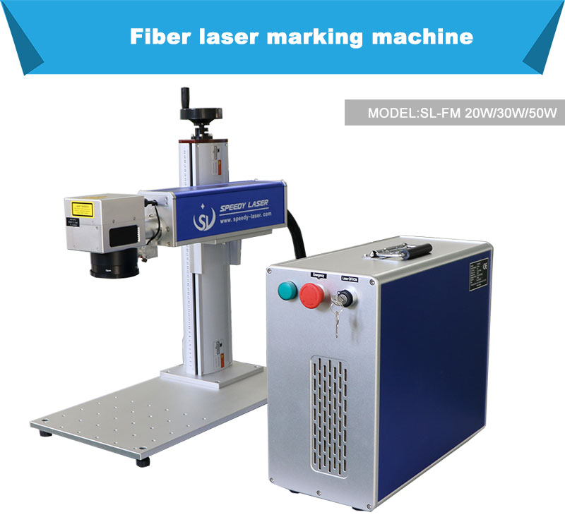 SL-FM 20W 30W 50W 60W fiber cheapest laser marking machine small metal laser engraving cutting machine
